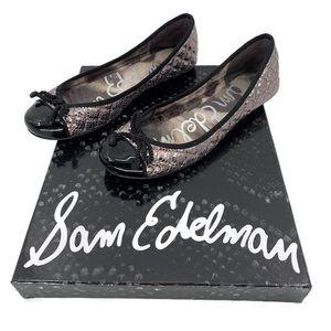 SAM EDELMAN Calypso Metallic Ballet Flats